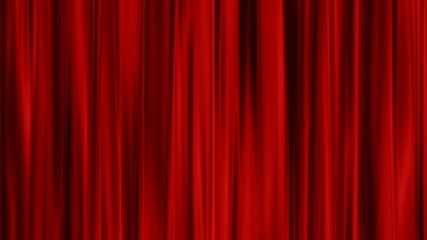 Red Curtains open, alpha channel