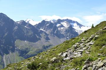 Aufstieg zu den Mutterberger Seen, Stubaier Alpen