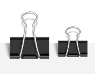 Black Paper clip. Vector
