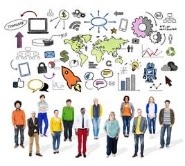 Global Business World Organization Market Commercial Concept
