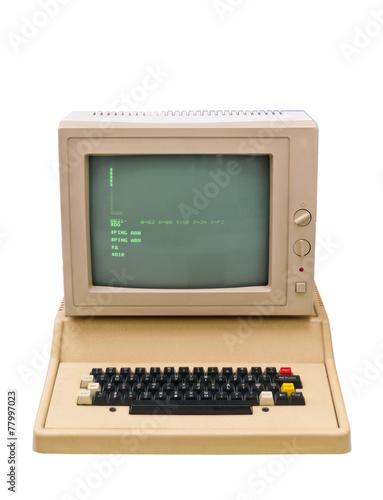 Vintage old computer - 77997023