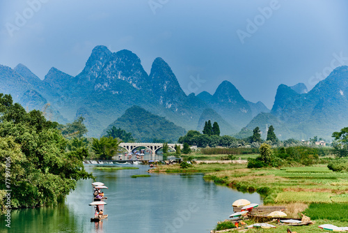 Staande foto China li river Guilin Yangshuo Guangxi China