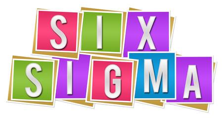 Six Sigma Colorful Blocks