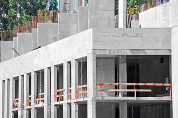 Building construction site wok with railing, detail