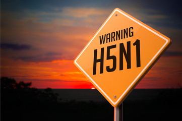 H5N1 on Warning Road Sign.