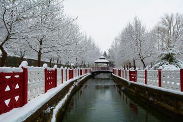 park alanlarında kış güzellikleri
