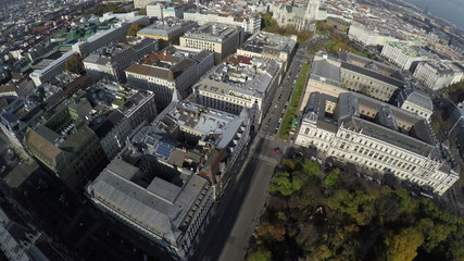 Aerial view on Vienna on a sunny day