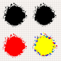 Colored spots on the paint