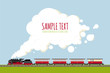 Steam Train in Landscape with copy space vector template