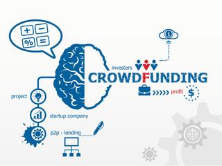 Crowdfunding concept.