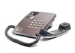 landline phone of gray on a white background - 78001866