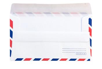 closeup of air mail envelope