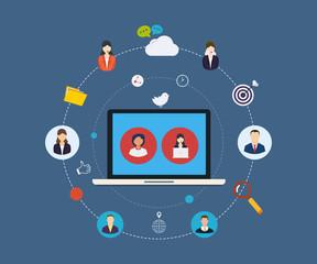 Social network and teamwork