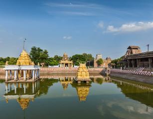 Temple tank of Hindu temple, India