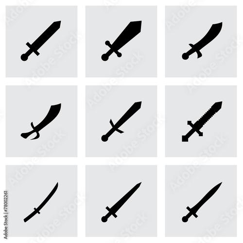 Vector sword icon set - 78002261