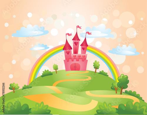 fototapeta na ścianę Fairy Tale castle.