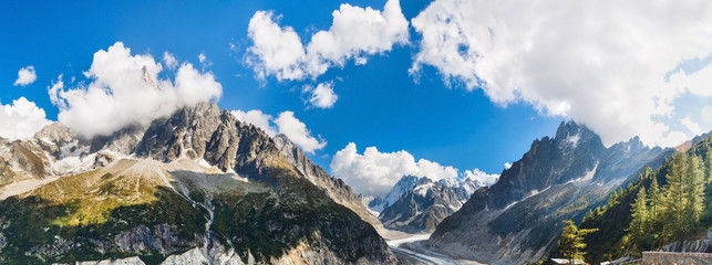 Panoramic view of Chamonix-Mont-Blanc
