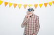 Obrazy na płótnie, fototapety, zdjęcia, fotoobrazy drukowane : Young in a Photo Booth party with gesture face
