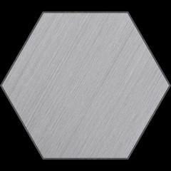 Hexagonal Aluminum Bevelled Panel with Clipping Path