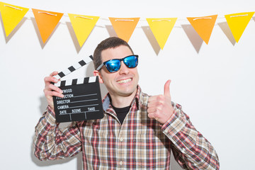 Young in a Photo Booth party with gesture face