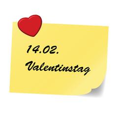 Note, yellow - Valentine's Day