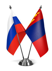 Russia and Mongolia - Miniature Flags.