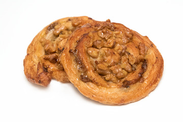 Cashew nut and maple syrup Danish pastry