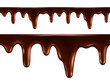 Drops of melted chocolate. Seamless vector - 78004606