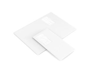 Geschäftsausstattung Kuvert groß klein weiß