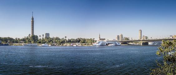 Nile Riverfront at Cairo, Egypt Panorama
