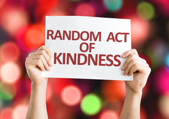 Random Act of Kindness card with colorful background