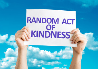 Random Act of Kindness card with sky background