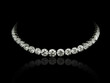 Leinwanddruck Bild - Round diamonds necklace