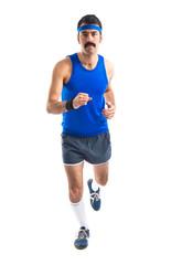 Vintage runner running fast