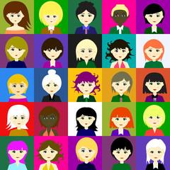 25 girls. Vector. 5