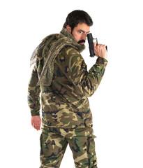 Soldier holding a gun
