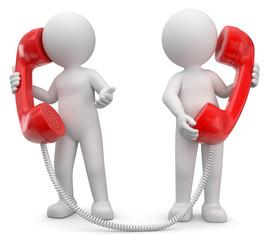 3d Männchen beim telefonieren