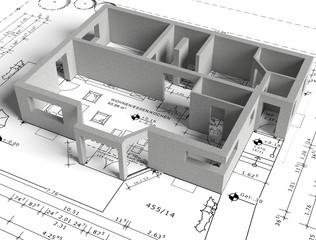Hausplan Betonbau