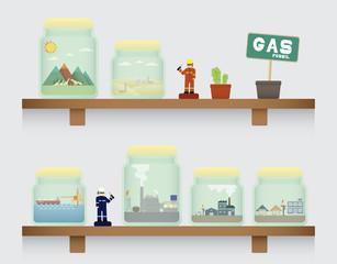 natural gas in jar