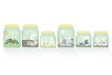 shale gas in jar