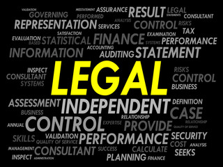 LEGAL word cloud, business concept
