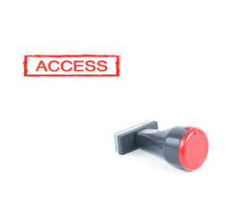 access rubber stamp