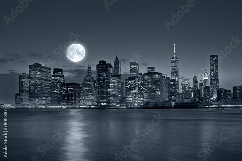 Foto op Plexiglas New York City New York City at night