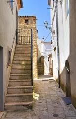 Alleyway.  Acerenza. Basilicata. Italy.