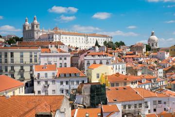 The old Alfama quarter in Lisbon, Portugal