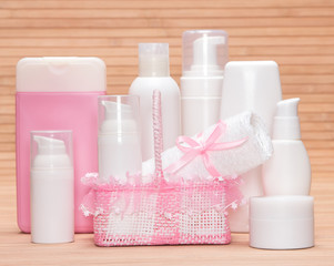 Collection of cosmetic products for skincare