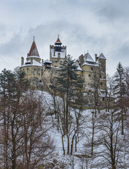 Castle of Dracula during winter season