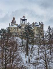 Castle of Dracula during winter season