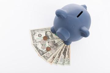 Dollar und Sparschwein