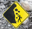 Rock Fall Danger Sign - 78012492